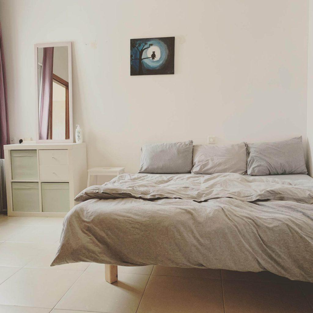 חדר שינה מינימליסטי