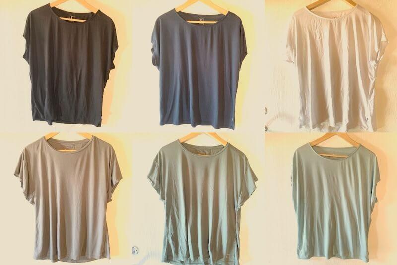 מלתחה מינימליסטית - חולצות
