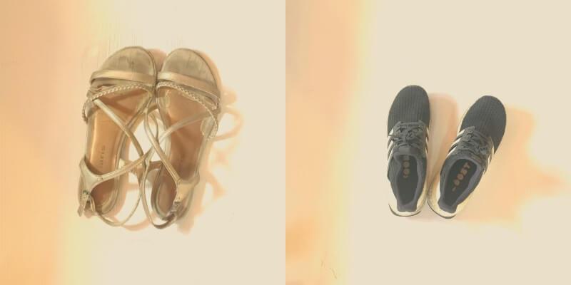 שני זוגות נעליים